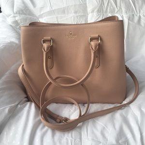 NWT Kate Spade Evangelie Satchel Warm Vellum Bag